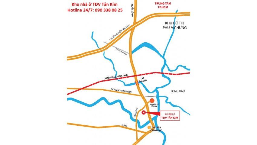 đất nền sổ đỏ quốc lộ 50, 270 triệu/nền tặng vàng