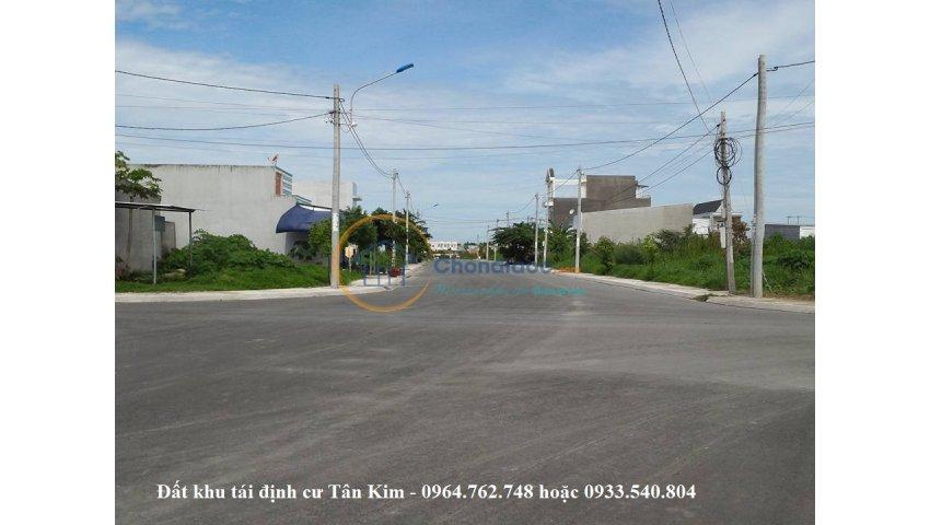 Bán đất nền tái định cư tân kim - quốc lộ 50, cần giuộc, long an giá 450 triệu/90m2