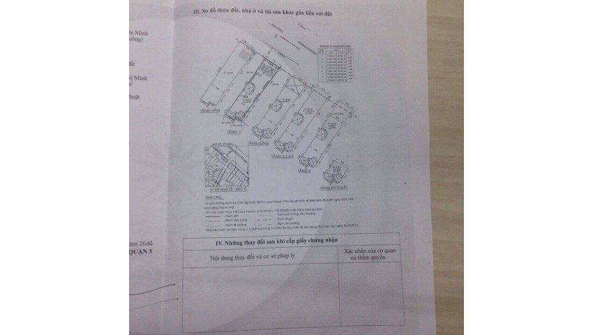 Chính chủ chuyển nhượng căn nhà mặt tiền mới xây vị trí trung tâm quận 3, tp.hcm