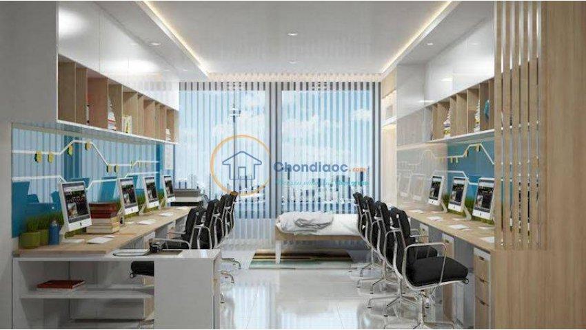 Văn phòng đa năng, Penthouse, sở hữu lâu dài, Vay 0%LS, cam kết thuê 16USD/m2. PKD: 0906626505
