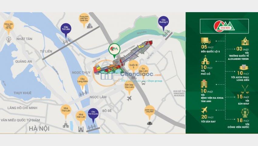 Bán 4 lô shophouse cuối cùng view hồ điều hòa, dự án Khai Sơn City Long Biên, LH: 0944909096