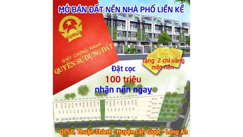 Mở bán chính thức 26 nền nhà phố liền kề sổ đỏ trao tay quốc lộ 50, Cần Giuộc, Long An