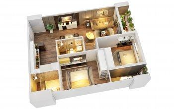 Sẵn sàng ký hđ căn hộ cao cấp mb land mỹ đình, diện tích 70m2 thiết kế 2pn, giá chỉ 2 tỷ