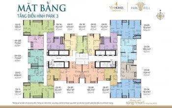 Chính chủ cắt lỗ căn hộ 2505 cc park hill cần bán gấp. dt: 74,9m2(park 3). giá 2,6  tỷ (0965490578)