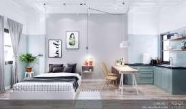 Cho thuê căn hộ Studio mới 100%, phong cách Bắc Âu, trung tâm đường Yên Báy