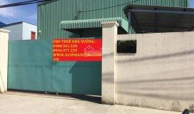 Cho thuê nhà xưởng đường hà huy giáp q. 12, dt: 550m2 giá 22tr/tháng. lh: