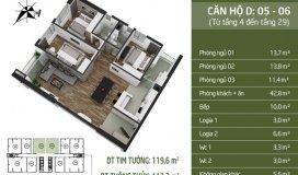Đẹp nhất..! Bán căn hộ Ngoại giao đoàn, 119m2, 3 ngủ, có sổ hồng, viw hồ, giá cực rẻ.