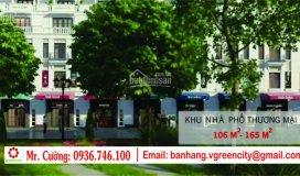Shophouse kđt v-green city phố nối, dt: 102-107-140-145m2, chỉ 10 tr/m2, ký trực tiếp: