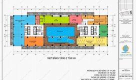 0961.245.139 bán căn hộ 2PN tòa thương mại HH, dự án nhà ở xã hội CSBCA 43 Phạm Văn Đồng