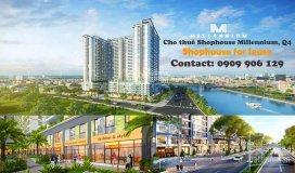 Cho thuê shophouse chung cư masteri millennium, q4