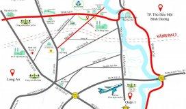 Chủ đầu tư lan phương chính thức giới thiệu dự án kdc hoà phú, mặt tiền đường bến than - củ chi