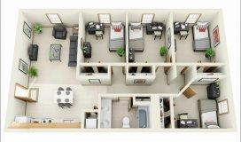 Bán căn hộ 234 Hoàng Quốc Việt, DT 145 m2, 4 ngủ lớn, giá 26.5tr/m2, nhà mới tinh.