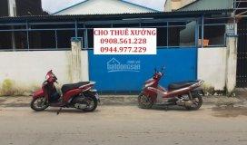 Cho thuê xưởng đường hà huy giáp, p. thạnh xuân, quận 12, dt: 450m2, giá 20 tr/th, lh: