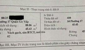 Bán nhà Nguyễn Oanh Gò Vấp 46m2 giá 2 tỷ 790tr