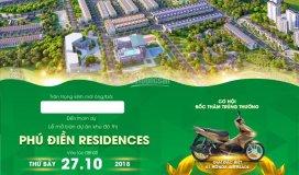 Mở bán gd1 dự án phú điền residences tp quảng ngãi ngày 27/10/2018
