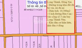 Sang nhượng đất lô, sào, mẫu đường bàu cạn, chỉ từ 1.6triệu/m2, diện tích 500m2 - 5ha