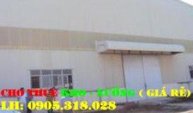 Cho thuê: 3 nhà xưởng (160m2 - 200m2 - 300m2) đường liên ấp 123