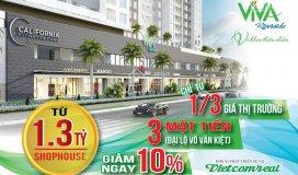 đầu tư shophouse viva cam kết lợi nhuận 10%, chỉ 1.3 tỷ/căn trung tâm quận 6. lh cđt