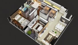 Cần tiền bán gấp căn hộ 3pn, 83m2, góc, đường Hoàng Quốc Việt, 26.5tr/m2.