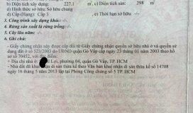 Cần Bán Gấp Nhà MT Lê Lợi, Phường 04, Gò Vấp.