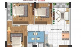 Bán ngay căn hộ chung cư dt 83m2, 3PN, 2VS . Giá 2.2 tỷ- Đường Hoàng Quốc Việt.