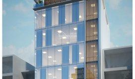 Cho thuê tòa nhà văn phòng 1 hầm 6 tầng tại góc vườn lài và văn cao giá thương lượng lh