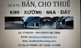 Muathuenhaxuong.com -- Dịch vụ sang bán mua thuê kho xưởng đất Quận 12, lân cận