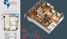 Bán căn góc 3p.ngủ 106m2 Hateco Hoàng Mai. LH 0972015918