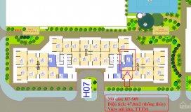Chuyển nhượng shop chân đế 1 tầng diện tích 47.8m2 tòa h7 vinhomes tây mỗ - mr. đắc