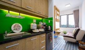 Ch mini 1pn, phòng khách, bếp đầy đủ tiện nghi mới 100% số 29 hồ văn huê , 30m2-50m2, 8.5 tr/th