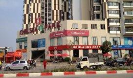 Cho thuê 185m2 trung tâm thương mại phố trung kính tiện làm quán cafe kinh doanh