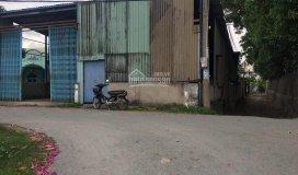 Nhà xưởng, kho 2 mặt tiền đường nhựa bình chánh sổ hồng riêng, diện tích 500m2 có 300m2 thổ cư