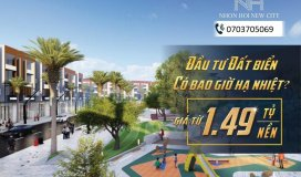 1ty490 sở hữu ngay đất mặt tiền là biển Nhơn Hội New City canh FLC Quy Nhơn