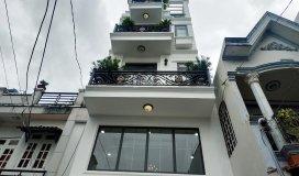 Mẫu nhà phố đẹp thiết kế hài hòa, với trệt lửng ba lầu tại đường phan huy ích, q. gò vấp